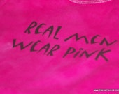 Breast Cancer Awareness October Real Men Wear Pink Onesie in Pink