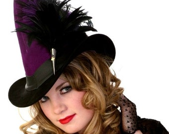 Witch Hat in Leather - Broom Rider