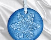 Holiday Snowflake Ornament - Blue - Single