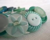 Jade vintage button bracelet