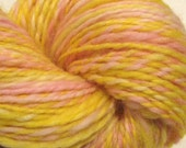 HALFF OFF SALE Peeps handspun yarn, 216 yards worsted weight, hand dyed falkland wool top