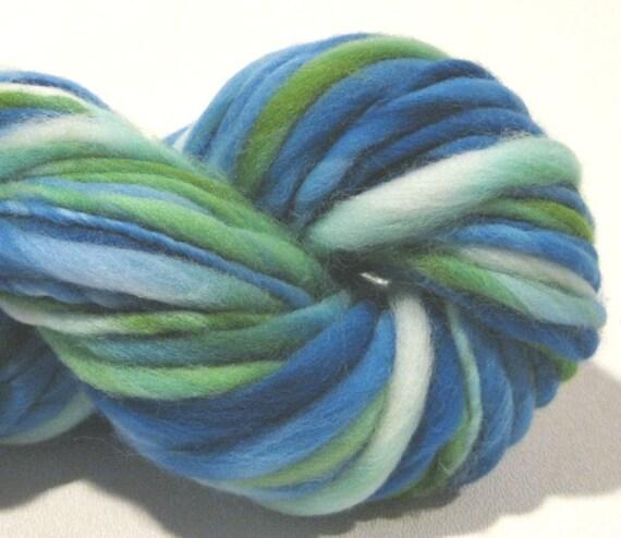 handspun yarn Sanibel thick and thin bulky singles merino yarn, 54 yards, merino wool