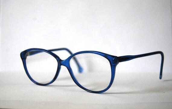 Retro nerdy mod blue eyeglasses Germany