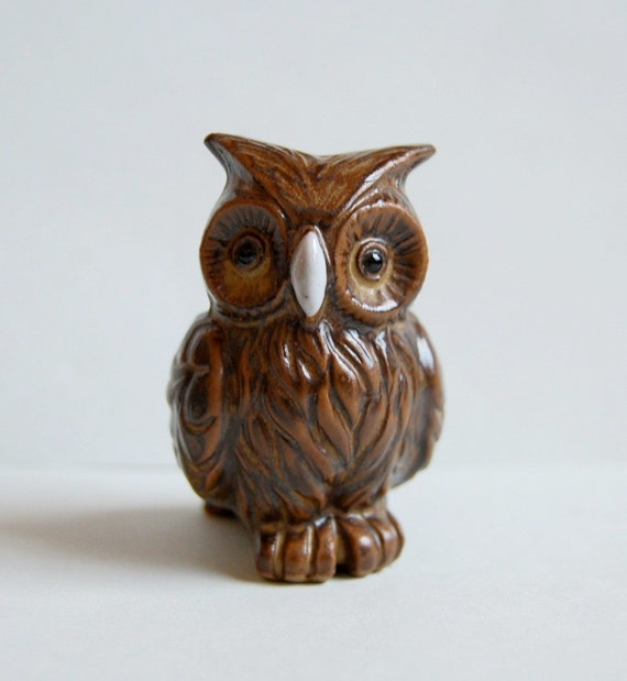 vintage owl figurine from Germany
