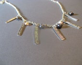 Sterling Silver Personalized Necklace with Pearls