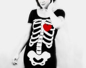 Skeleton Beating HEART Dress - MADE TO ORDER