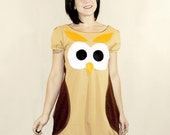 Owl Dress - MADE TO ORDER - repurposefulPUNK