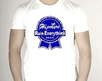 PBR Hipster Irony Shirt - Size S - 5XL