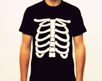 Skeleton Shirt or Costume for Men - Size S to 5XL