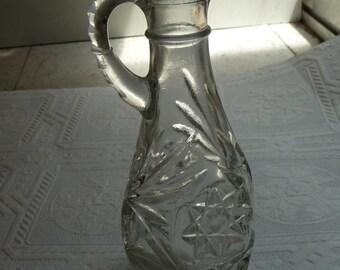 SALE vintage cruet, glass pitcher, vintage housewares, Shabby, unique pitcher, home decor, vintage kitchen, dining, server, unique pitcher