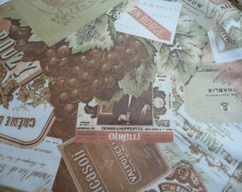vintage wine fabric, vintage wine labels, unique, grape clusters, sewing supplies, knit fabric, clothing, crafts, home decor, collectibles