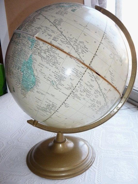 Globe World Globe Vintage Crams Imperial World Globe Historical Home Decor Office Educational Prop
