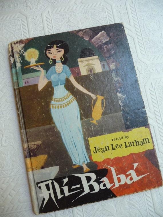 Ali Baba Book Childrens Book Ali Baba Jean Lee Latham Vintage 1961 Pablo Ramirez Childrens Book Reading Scrapbooking Art Pictures Ephemera