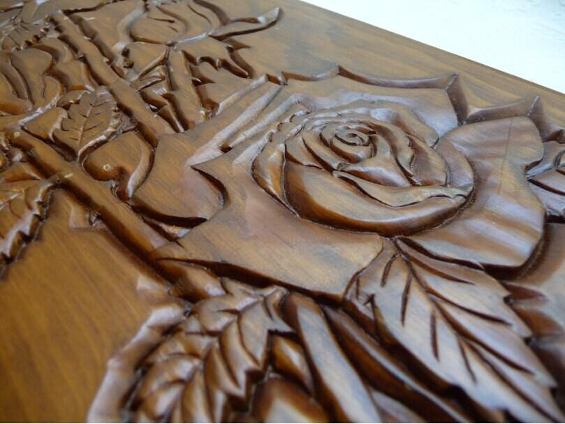 Wooden roses deals on blocks