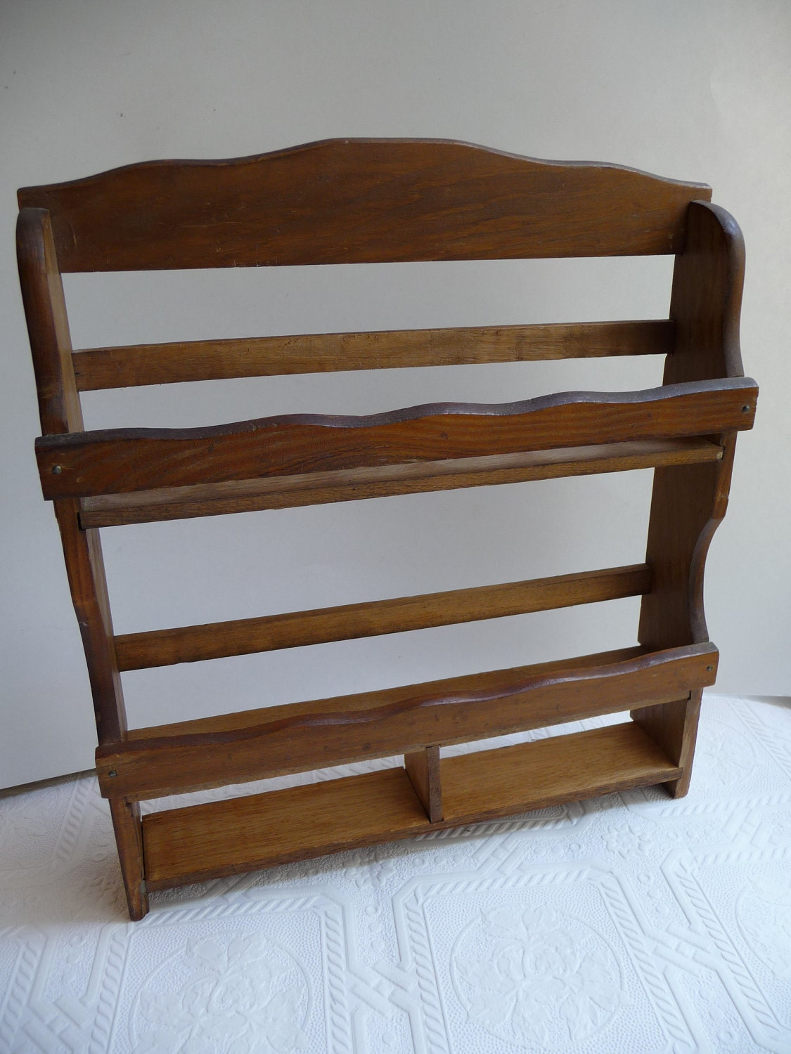 Spice rack vintage wooden by