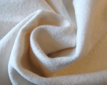 Natural Flannel Fabric..2 Yds..8.5oz..Weight..58/59in..Width..Cotton..Quilt Fabric..Backing..Batting