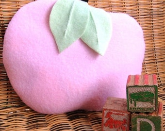 An Apple A Day Heating Pad With Washable Cover