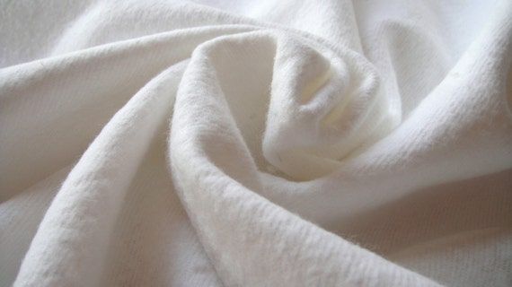 8.5oz. Weight...58/59in. Width...White Cotton Flannel Fabric