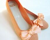 Panama Peach: handmade summer ballet flats from De Bonis Orquera