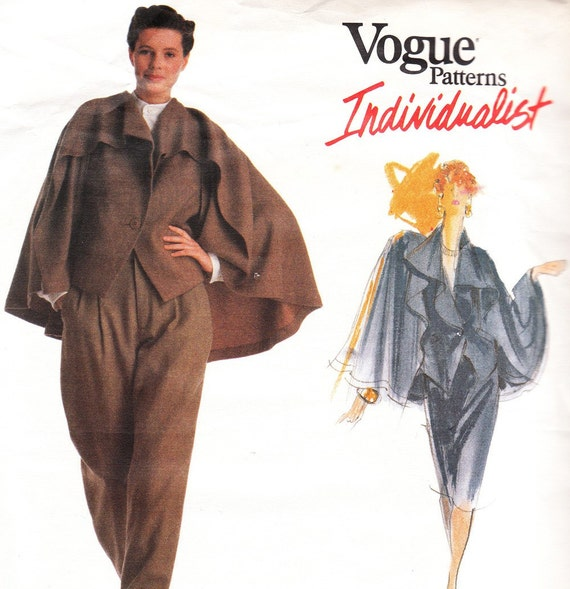 Vintage 1980s Issey Miyake designer original pattern for jacket, pants and skirt - Vogue Individualist 2352