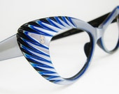 Reserved Vintage 60s Blue Suntimer Cat Eye Sunglasses frames