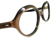 Vtg French 60s Eyeglasses Sunglasses Frames Satin Brown Eyewear NOS