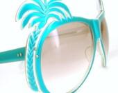 Rare Vintage 70s 80s Unique Palm Tree Sunglasses