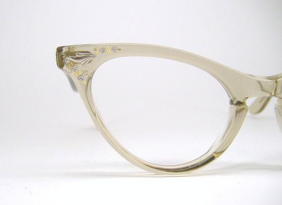 Cat Eye Eyeglasses Brown Mist Eyewear Frame NOS
