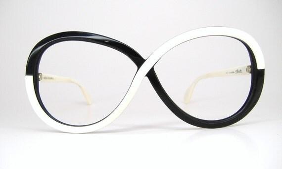 Vintage 80s Big Lens Silhouette Eyeglasses Sunglasses Frame
