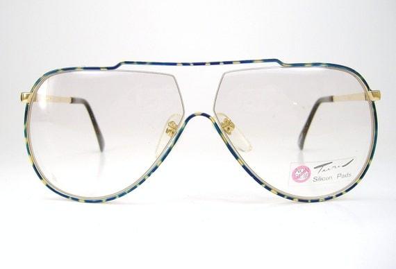 Vintage Sunglasses or Eyeglasses Tura Aviator  Frame NOS Mod. 447 Navy Blue