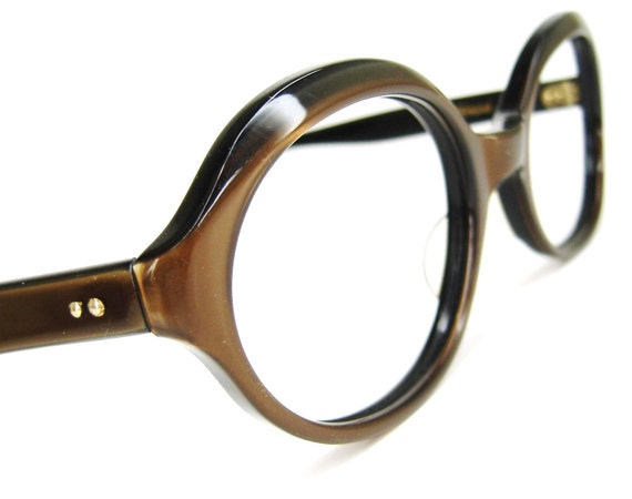 Frame Of Glasses In French : Vtg French 60s Eyeglasses Sunglasses Frames Satin Brown