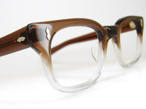 RESERVED Vintage Mens 50s Horn Rim Fades Eyeglasses Frame Mint