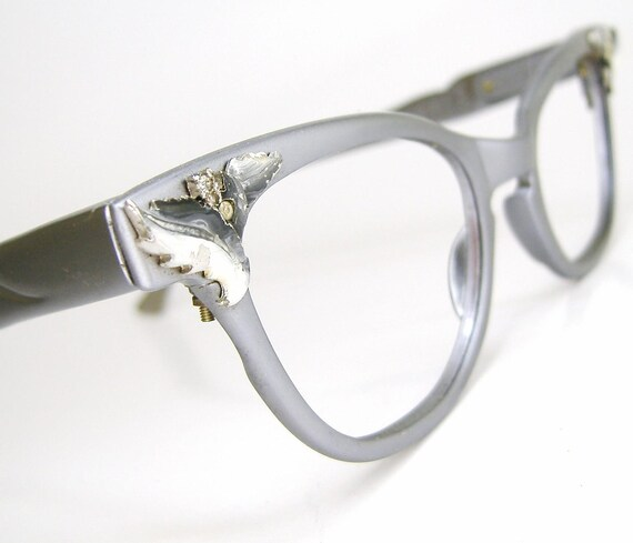 Vintage Cat Eye Eyeglasses Frame Flair 1950 60s Eyewear