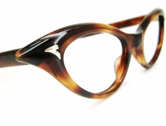 Vintage 50s Cat Eye Eyeglasses or Sunglasses Eyewear Frame NOS