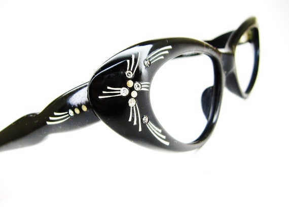 Vintage 50s Cat Eye Glasses Sunglasses Eyewear Frame France NOS