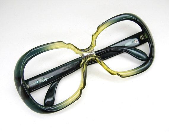 Vintage 80s Green Saphira over sized Sunglasses  Eyeglasses  Frame