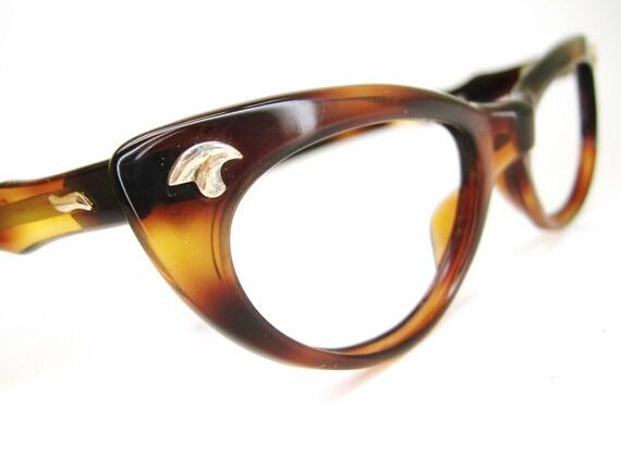 Vintage Womens 50s Cat Eye Eyeglasses Frames