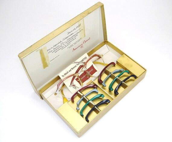 Vintage 50s Cat Eye Glasses Eyeglasses Frames American Optical 12k Gf