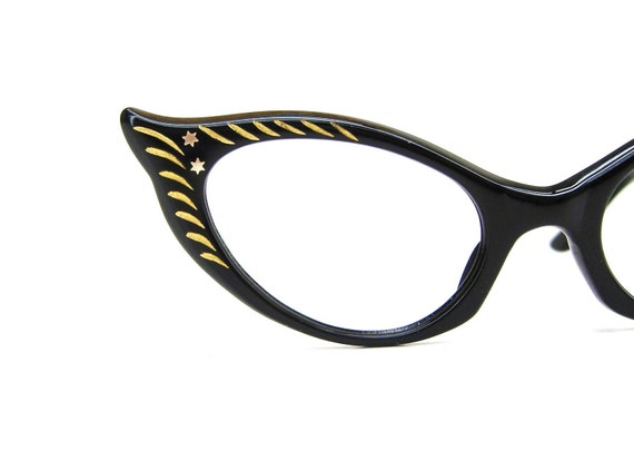 Vintage 50s French Cat Eye Eyeglasses or Sunglasses Frame France NOS