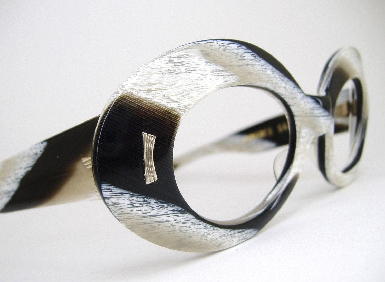 Unusual Designer Eyeglass Frames : Unique Vintage 1960s 70s Eyeglasses Sunglasses frame