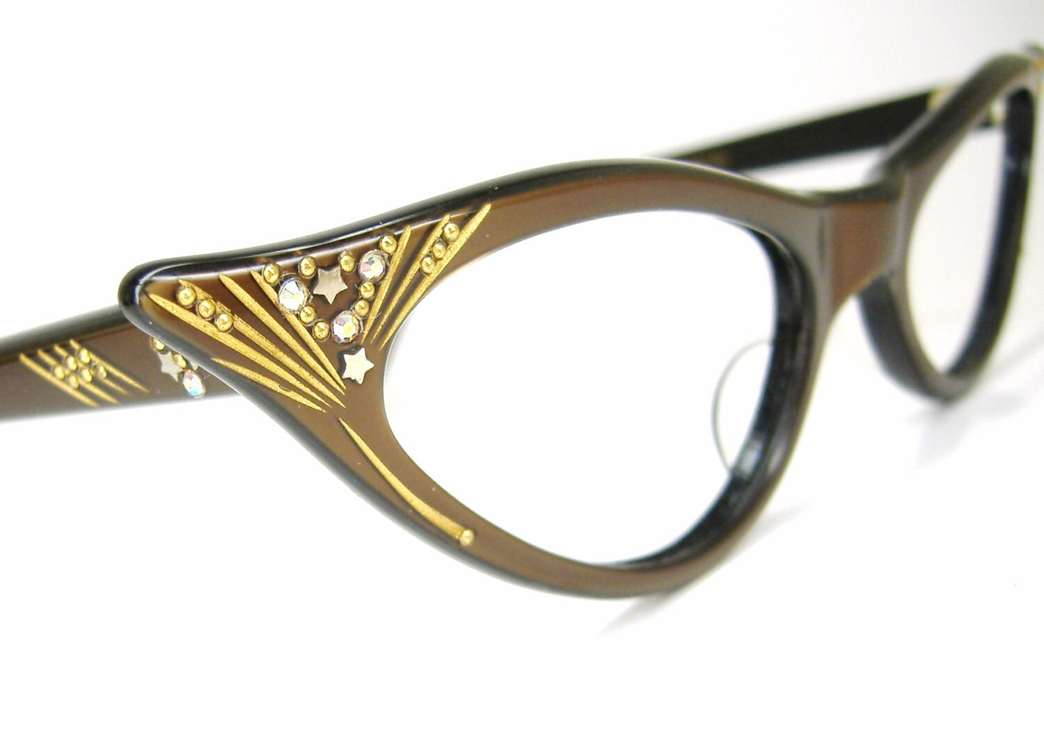 Vintage Glasses Frames Cat Eye : Vintage 1950s Cat eye Glasses Eyeglasses by Vintage50sEyewear