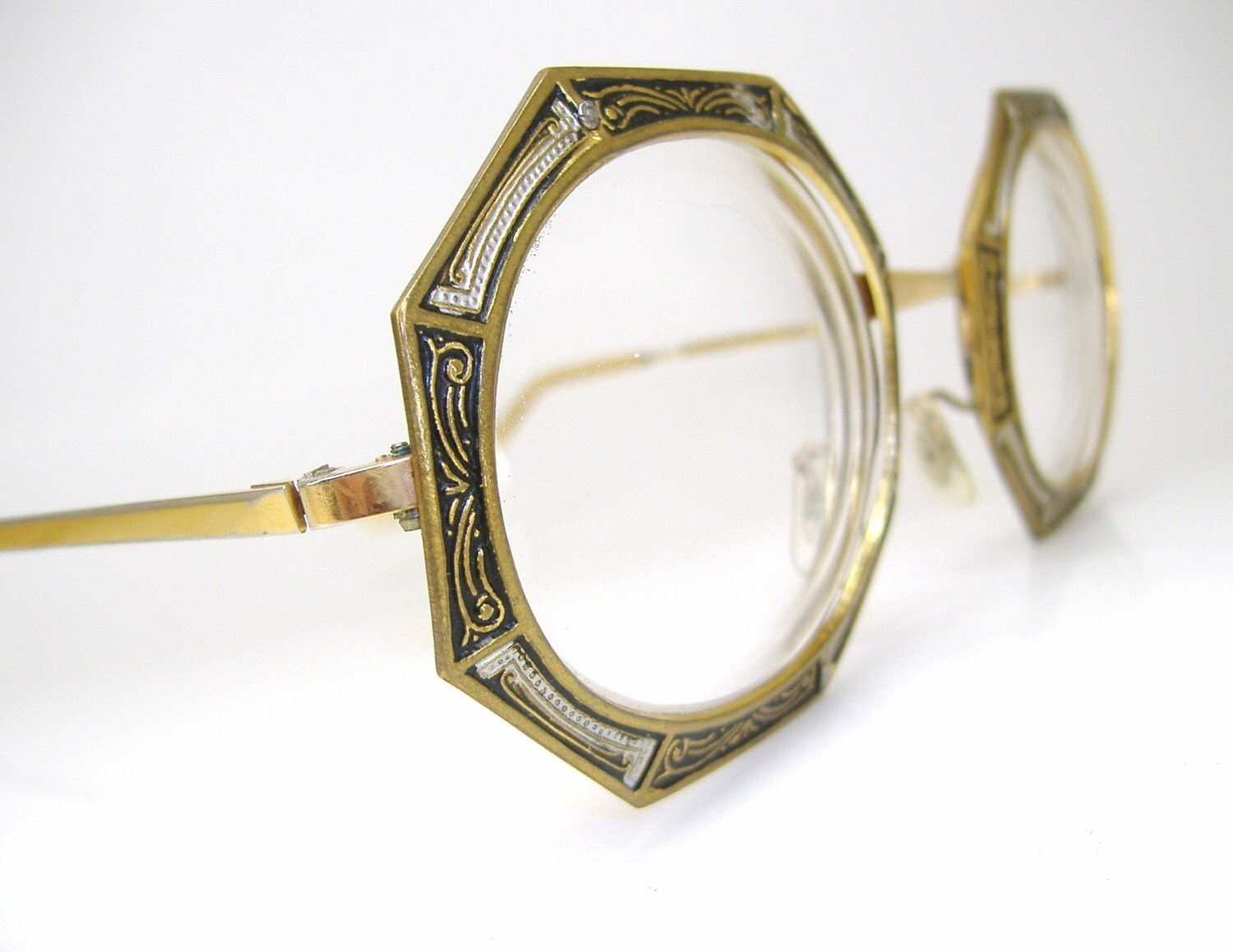 Unusual Designer Eyeglass Frames : Vintage Rare and Unique Tura Beautiful Detail Eyeglasses or
