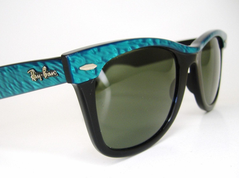 Vintage Turquoise Ray Ban Wayfarer 5022 Sunglasses