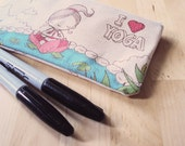Small I Heart Yoga Zipper Pouch
