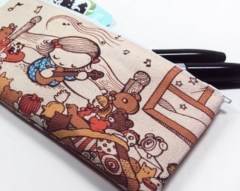 SALE - Small Bedtime Lullaby Zipper Pouch