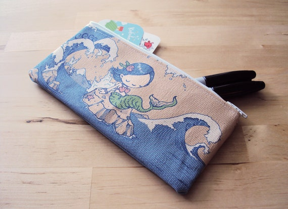 Mermaid Girl Small Zipper Pouch