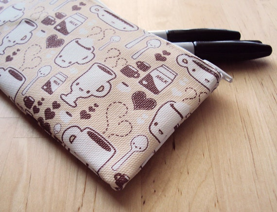 Coffee Friends Small Zipper Pouch