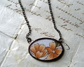 Garden Reflections  Vintage Hanky Necklace