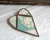 Mint Heart Brooch Quilt