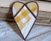Butterscotch Valentine Heart Brooch